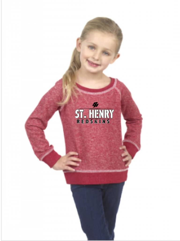 Pima Apparel H319 - 8904G Girls French Terry Pullover