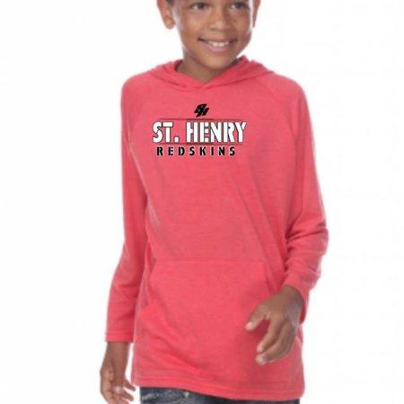 Pima Apparel H320 - 9606 Youth Hooded Long Sleeve -