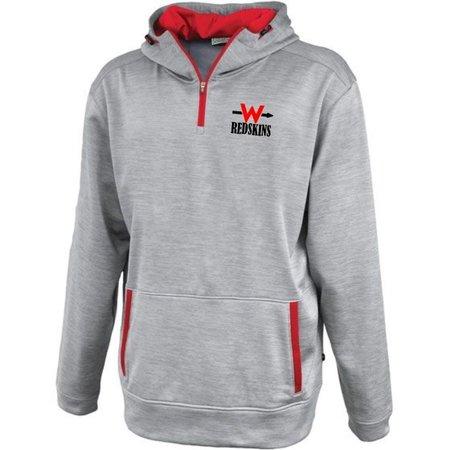 W412-Linear 1/4 Zip Hood