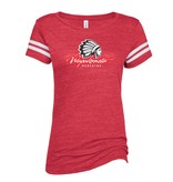 W405-EZ075 Ladies TriBlend Football Tee