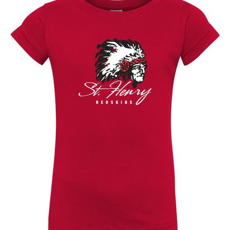 H470 - 3316 - Girls Toddler Red T