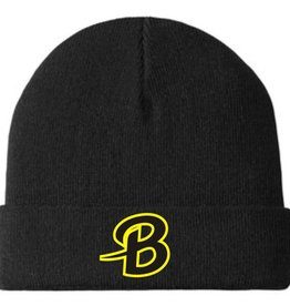 Port Authority B240-C939 Port Authority Knit Cuff Beanie - Black