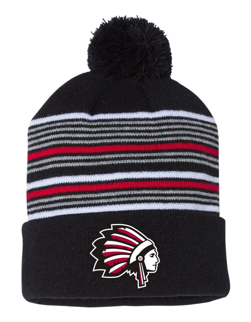 W467-SP60 Sportsman Striped Beanie
