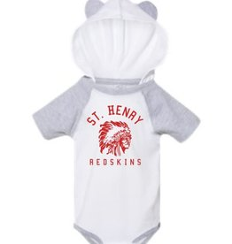 Rabbit Skins H484 - 4417 - Infant Body Suit - white/heather