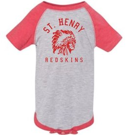 Rabbit Skins H487 - 4430 - Infant Onsie - heather/red