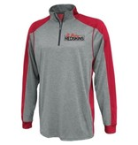 H488 - Y1126-Pennant Youth 1/4 zip grey/red