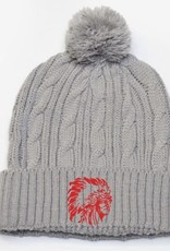 H493 - 643K cable knit beanie - graphite