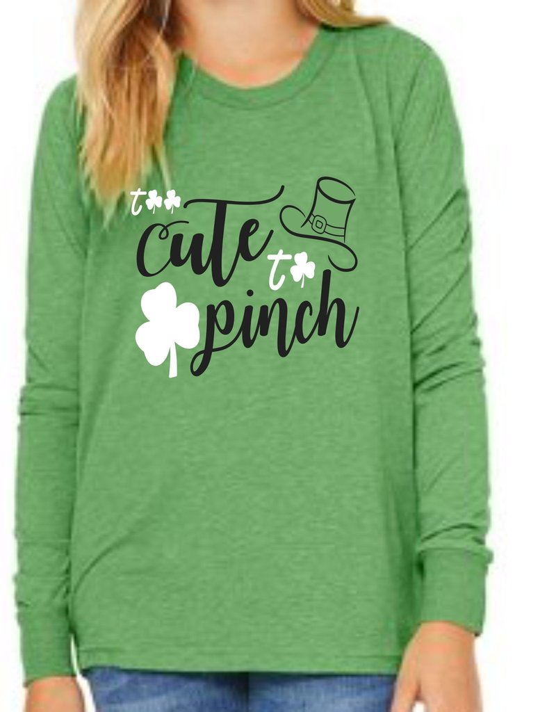 Bella + Canvas H551-3501Y- Long Sleeve T - Green Triblend