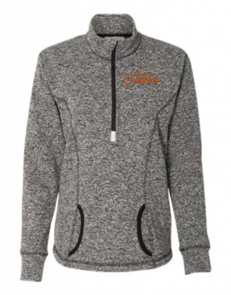 J. America C124 - 8617 - Women's Cosmic Fleece Quarter-Zip Pullover