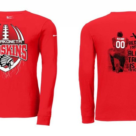 Nike W255 - NKBQ5232 Nike Long Sleeve T-shirt University Red L