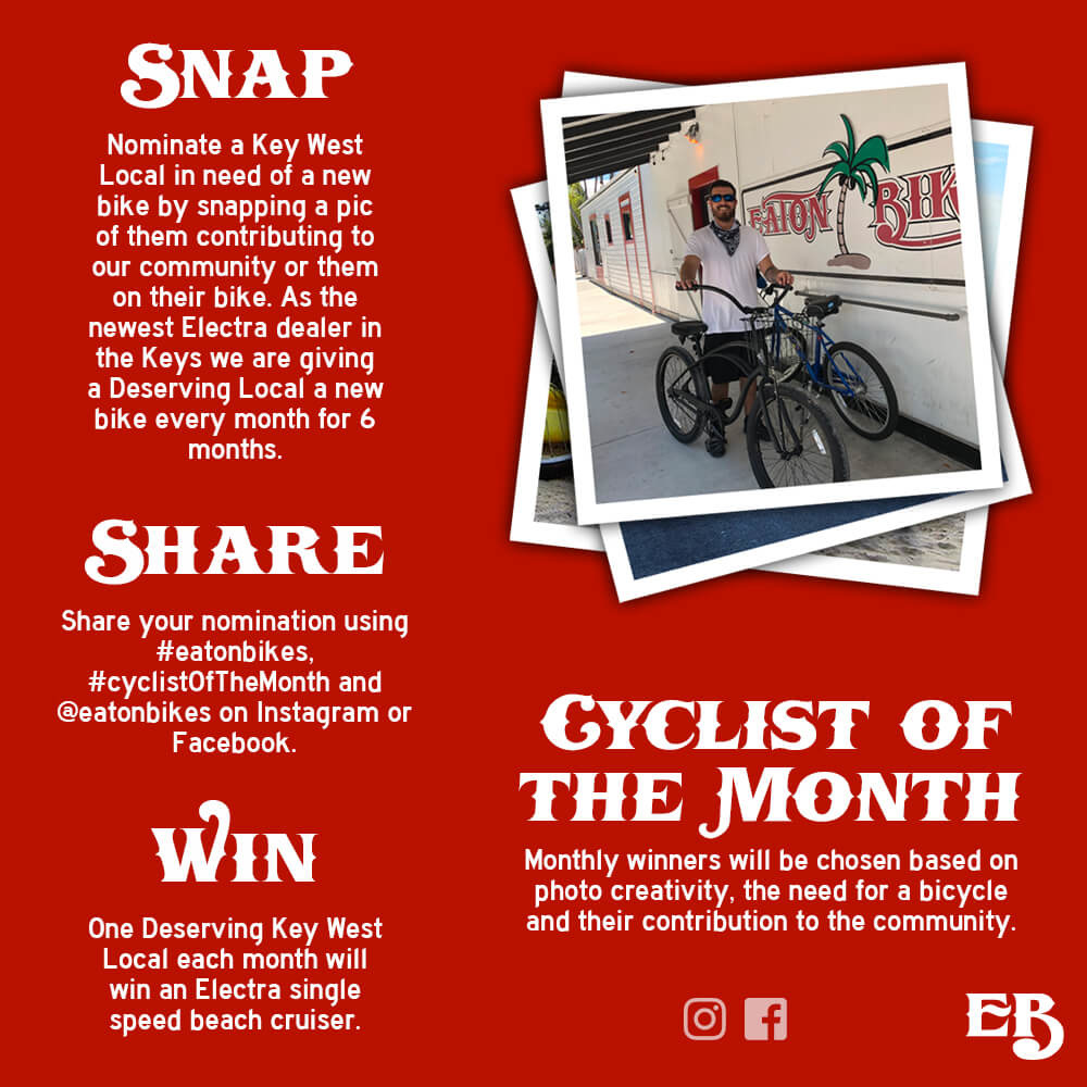 May's Cyclist of the month is Julian