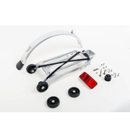 Brompton Complete rear rack kit, 4 rollers and mudguard