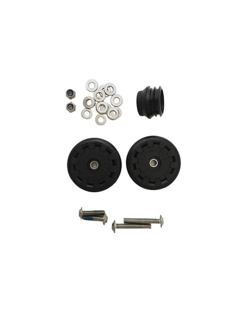 Brompton Brompton Eazy Wheel rollers with fittings - 6mm holes (Pair)