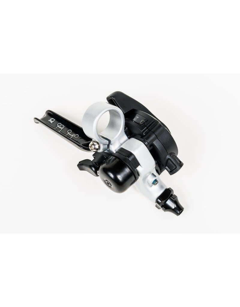 Brompton Brompton Brake lever right with integrated underbar 3 speed shifter Silver Black