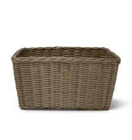 "Linus Farmers Basket Grey Rattan 17""(W) x 8""(H) x 12""(D)"