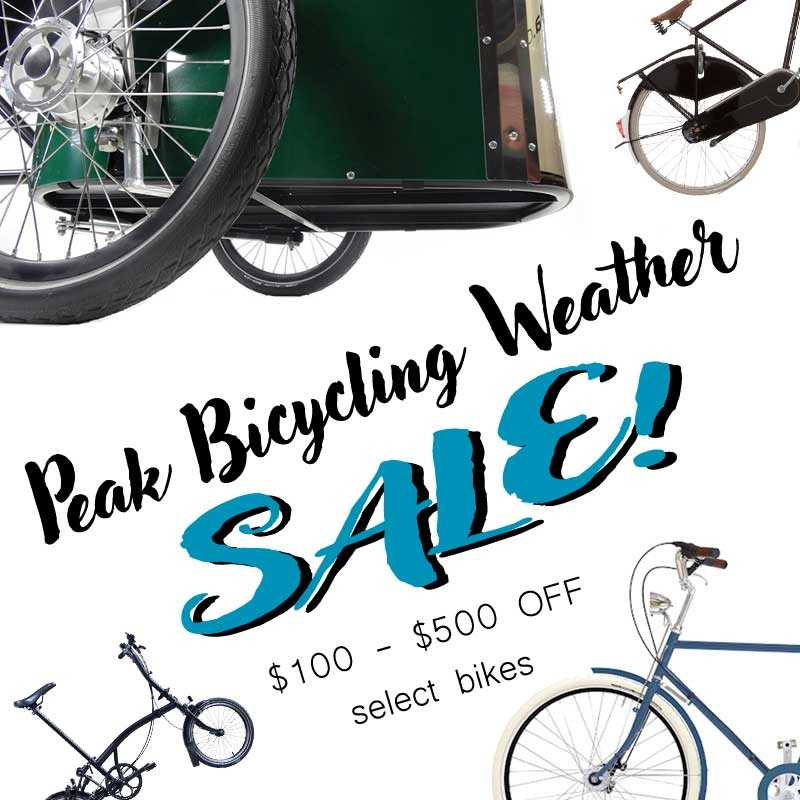 PEAK BICYCLING WEATHER SALE!