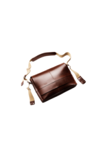 Brooks Brooks Barbican Leather Messenger - Brown