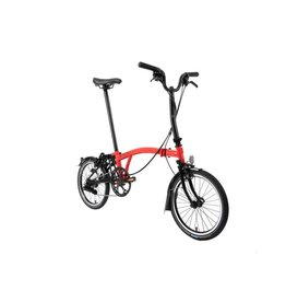 Brompton Brompton M6L Ti Rocket Red / Black (Black Edition) Superlight