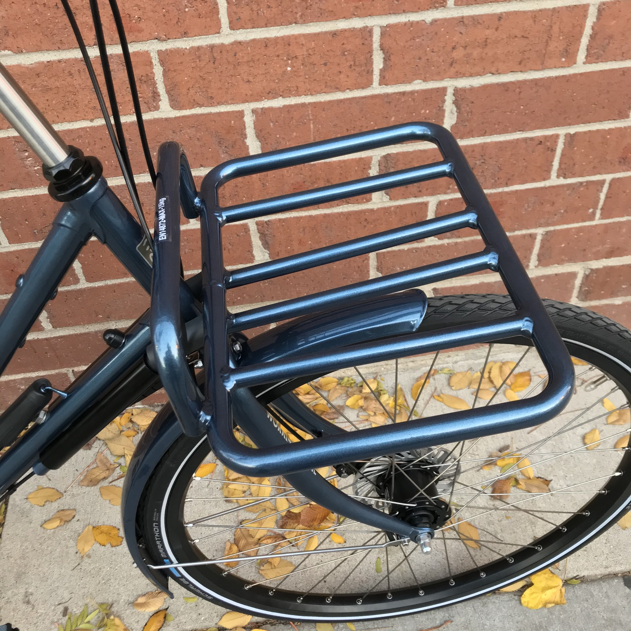 Workcycles Front Carrier Rack Gloss Anthracite Blue