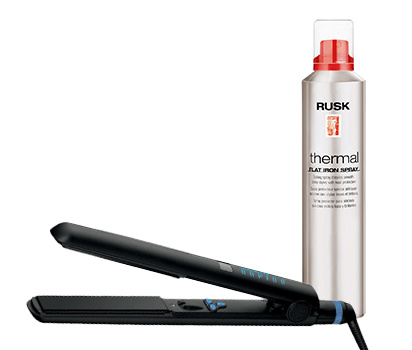 Fer plat Sleek Straight Rapido et Protecteur thermal Rusk
