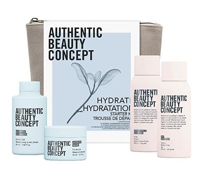 Ensemble de produits pour les cheveux secs Hydrate Authentic Beauty Concept