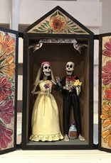 RETABLO SKELETON WEDDING COUPLE
