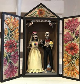 RETABLO SKELETON WEDDING COUPLE