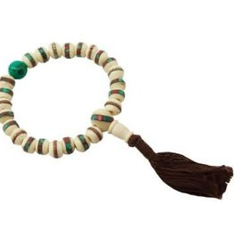 Inlaid Bone Mala Bracelet