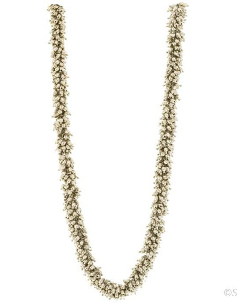 Silver Cluster Necklace