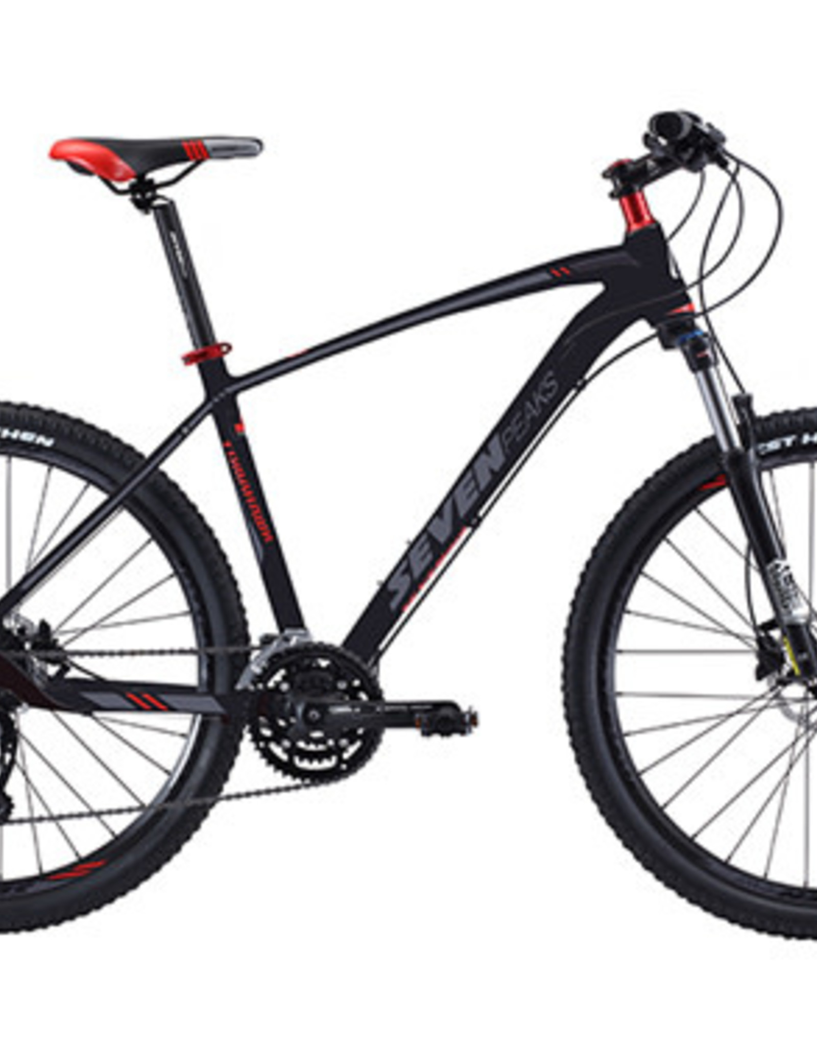 Seven Paeks Vélo Tomahawk (19) 27v 27.5'' BLK/RD vsp