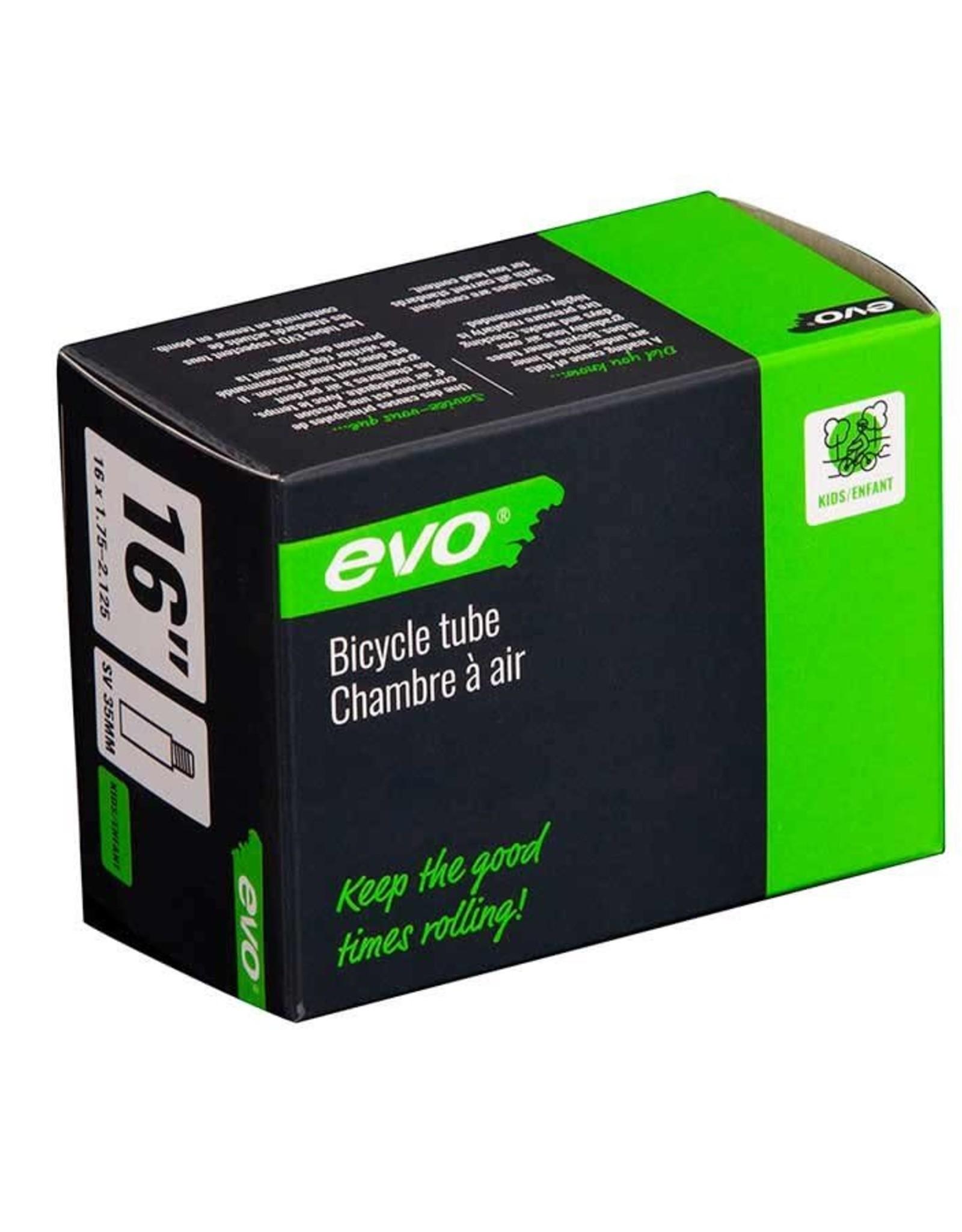 EVO EVO, SV, Chambre a air, Schrader, Longueur: 35mm, 16'', 1.75-2.125