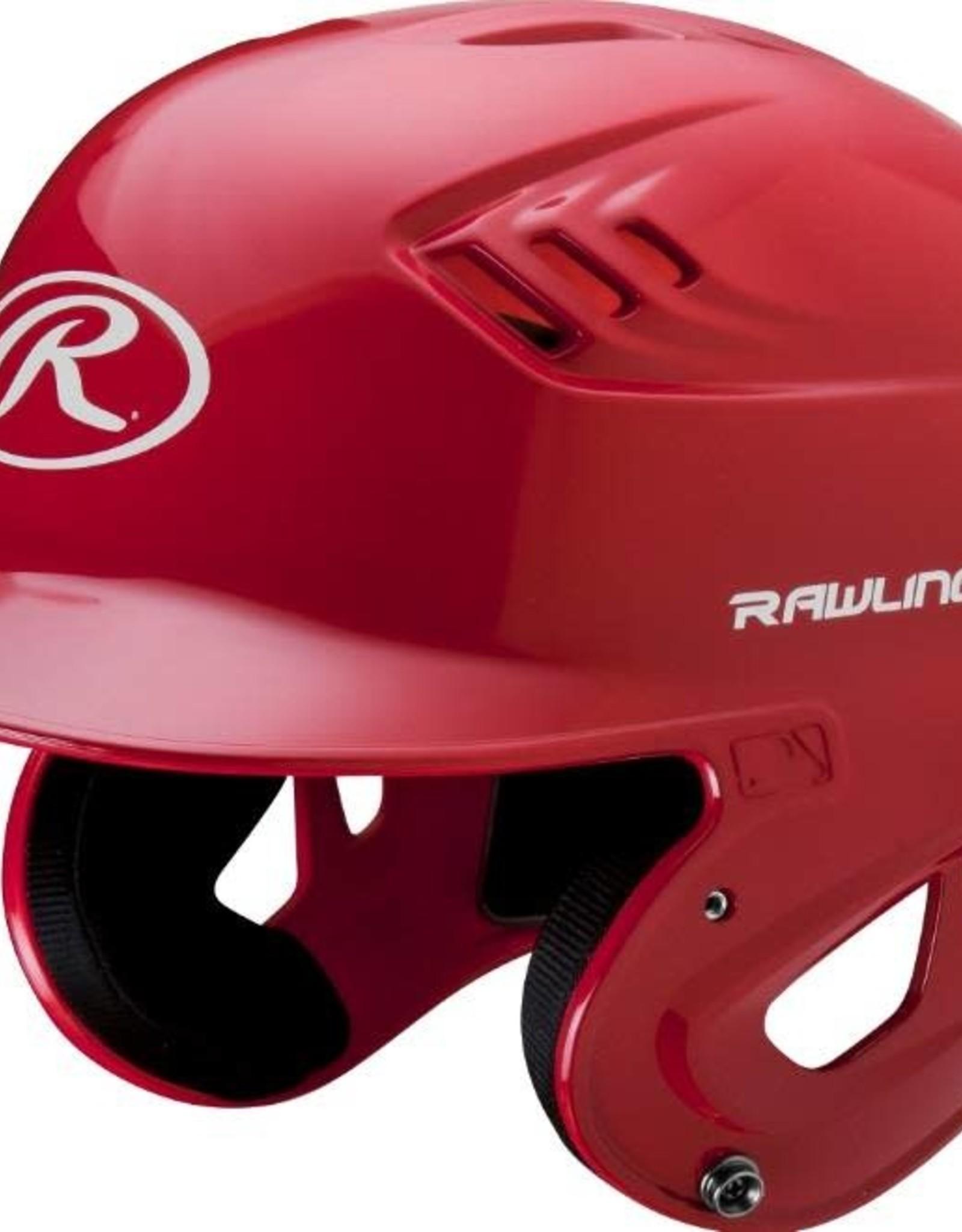 Rawlings R16 Velo Helmet - 1-Tone Clearcoat - JR-Scarlet