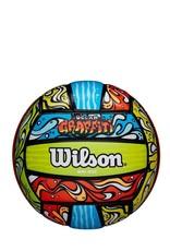 wilson official size ocean grafitti bluorgr volleyball (beach)