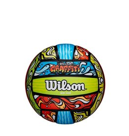 wilson official size ocean grafitti bluorgr volleyball (beach)