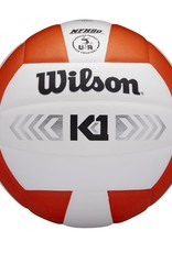 wilson official size k1 volley ball silver (indoor)