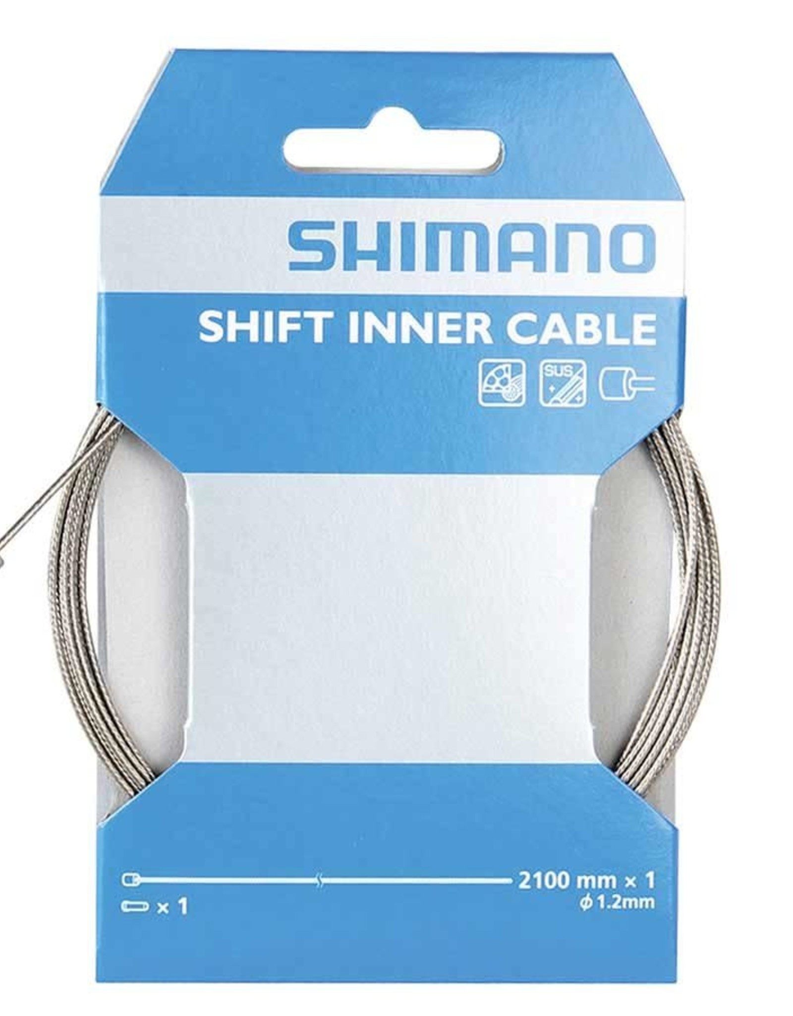 Shimano Shiman, Shift cable, Stainless, 1.2x2100mm, Unit