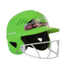 Rawlings High School/College Batting Helmet Green/Vert casque