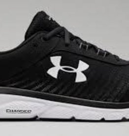 Under Armour Mens UA Charged Assert 8 4E Black / Black / White 9.5
