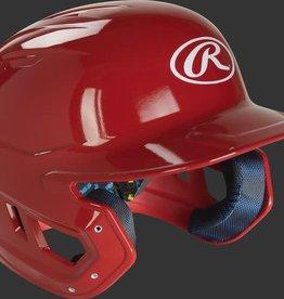 Rawlings MACH Helmet - 1-Tone Clearcoat - JR-Scarlet
