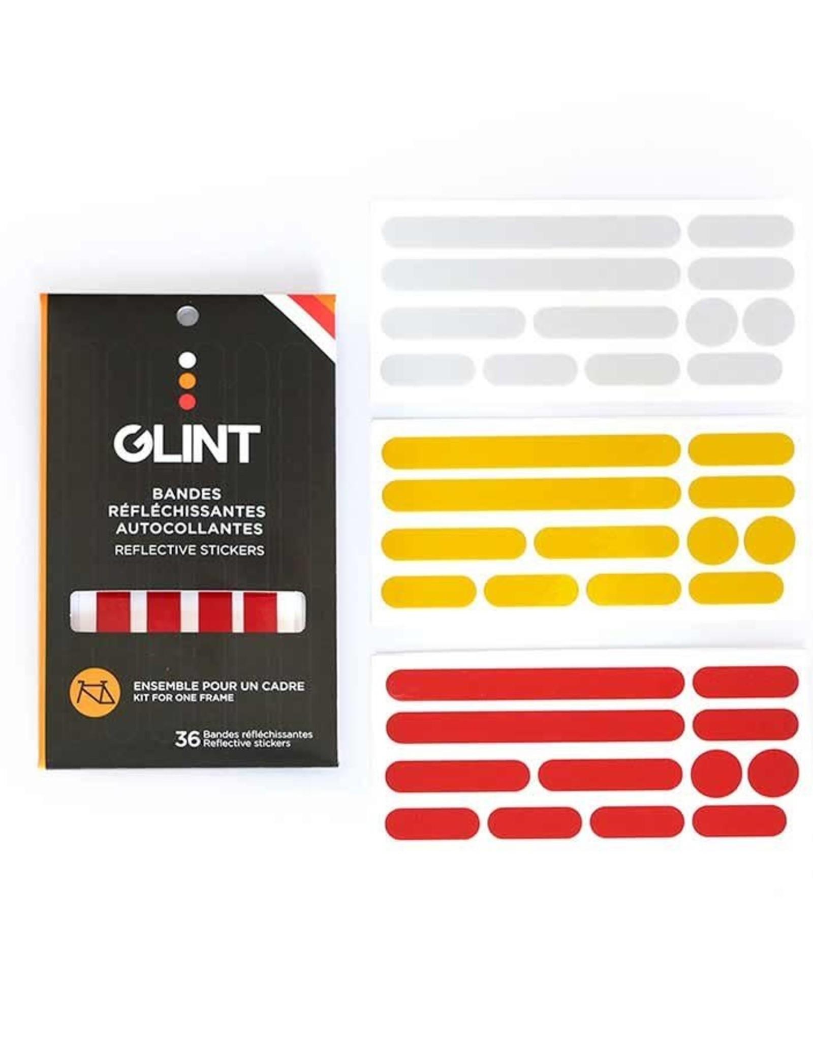 GLINT REFLECTIVE GLINT Reflective, Ensemble pour cadre 3 couleurs, Blanc/Jaune/Rouge, Kit