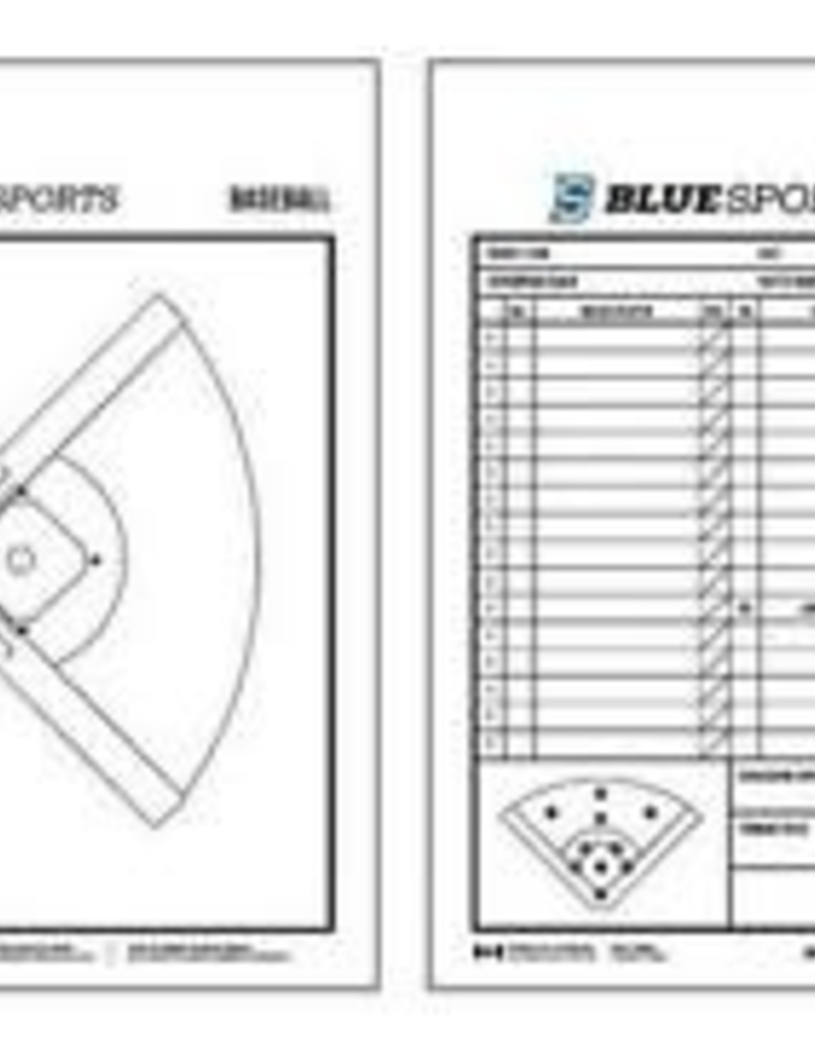 "BLUE SPORTS BASEBALL DELUXE CLIPBOARD 10""X16"