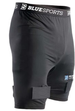 BLUE SPORTS CLASSIC COMPRESSION SHORT WITH CUP JUNIOR LARGE