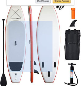PADDLE BOARD GONFLABLE ORANGE (SAC+POMPE+PAGAIE))