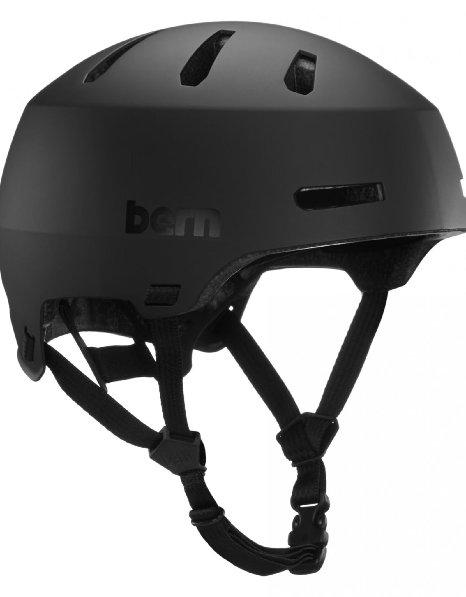 Bern Bern, Macon 2.0, Helmet, Matte Black, L, 59 - 62cm