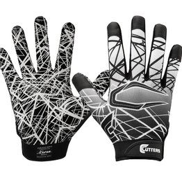 cutters Game Day Recever Gloves BLK S