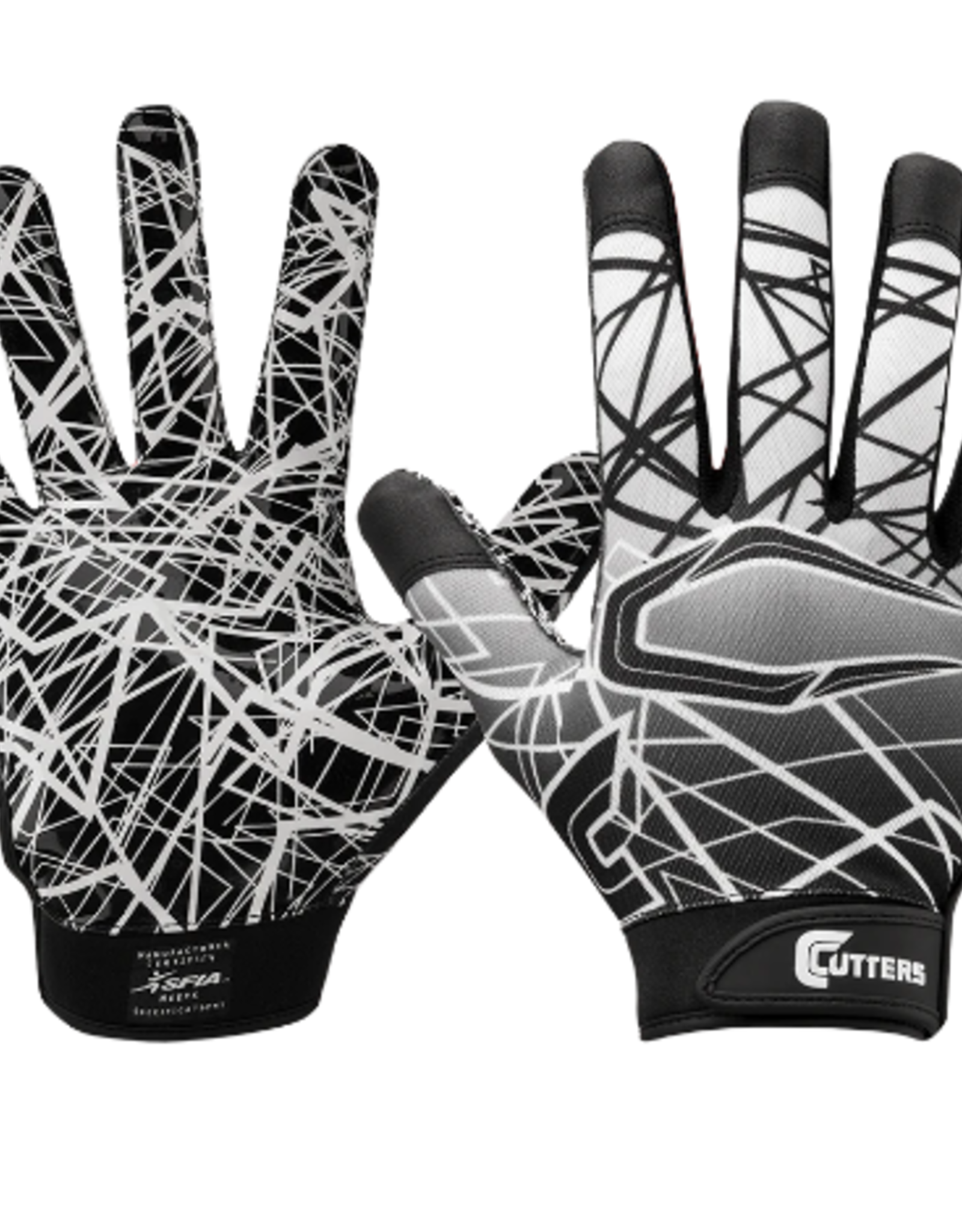 cutters Game Day Recever Gloves BLK L