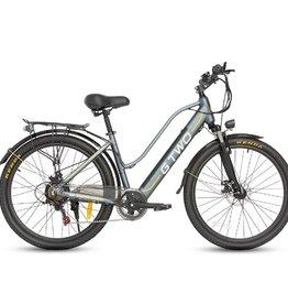 G Two Vélo Électrique G Two De Ville Gris/Blanc 700c  pouces(48V-350W)