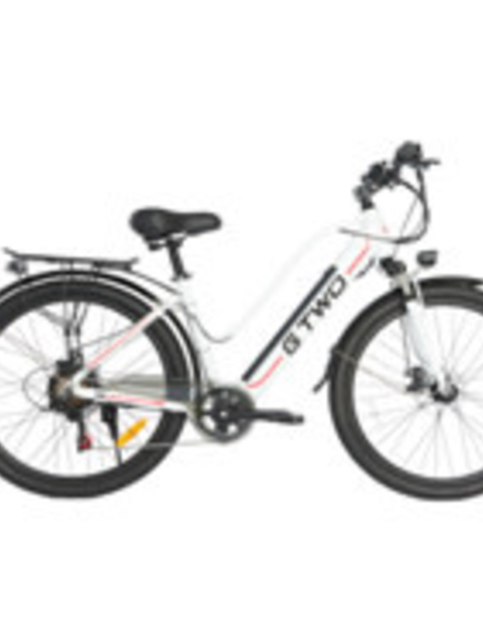 G Two Vélo Électrique G Two De Ville Femme Blanc 700c  pouces(48V-350W)