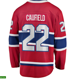 Cole Caufield Montreal Canadiens Fanatics Branded M Home Premier Breakaway Player - Jersey - Red