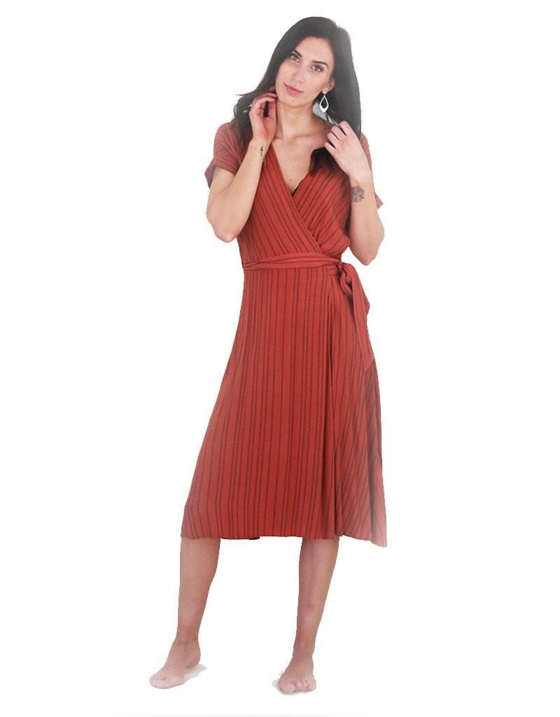 LA Helen Wrap Dress